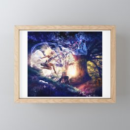 Once Upon a Sunkissed Swing Framed Mini Art Print