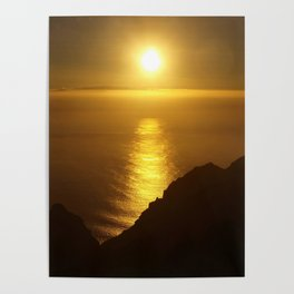 Sunset over the Canary Islands Poster