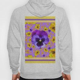 PANSIES YELLOW BUTTERFLIES & FLOWERS GARDEN Hoody