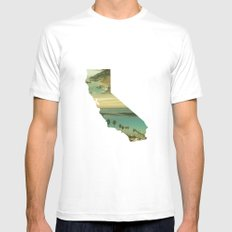 California Collage MEDIUM Mens Fitted Tee White