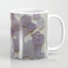 Genuine Purple Sea Glass Collection Coffee Mug