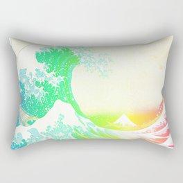 The Great Wave Rainbow Rectangular Pillow