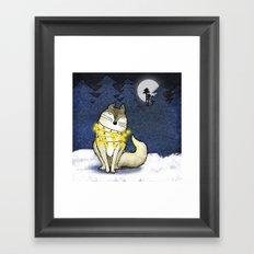 Peace under the Moon Framed Art Print