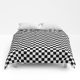 Classic Black and White Race Check Checkered Geometric Win Comforters