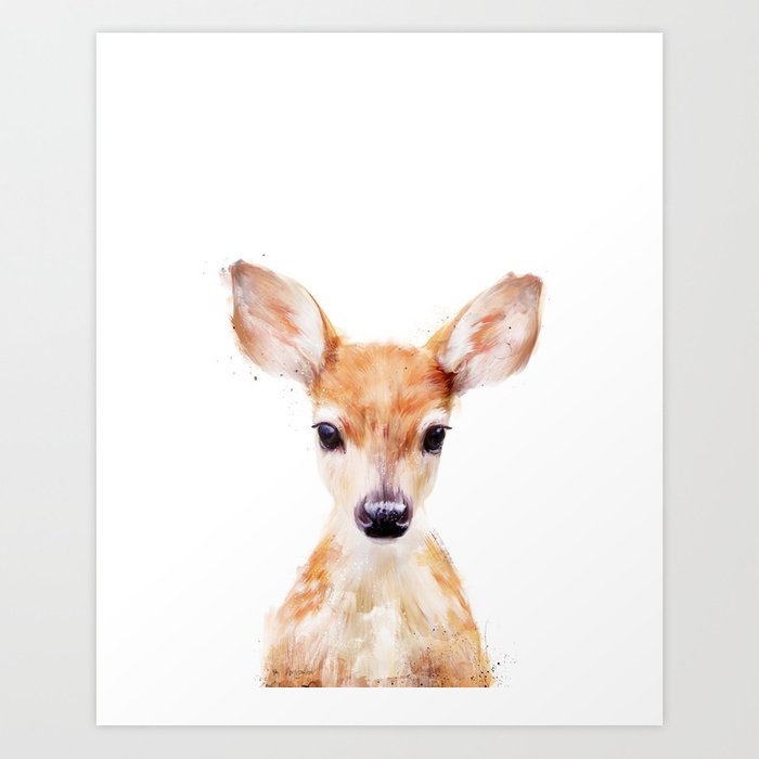 Sunday's Society6 | Little painted deer art print