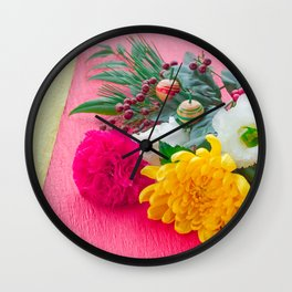 The Decoration Flower Of New Year Wall Clock