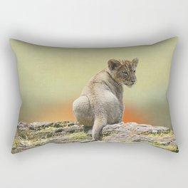 Lion Cub King Rectangular Pillow