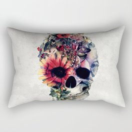 Two Face Skull Rectangular Pillow