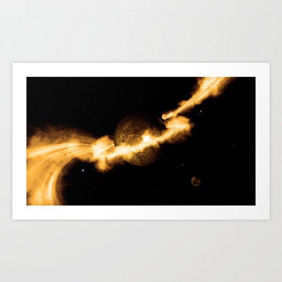 Solar Stream  Art Print