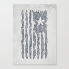 America Feather Flag Canvas Print