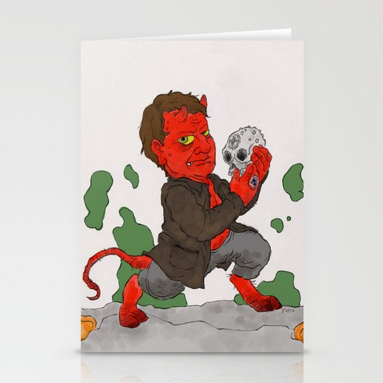 """""""Hell in a Handbasket"""" by Virginia McCarthy Stationery Cards"""