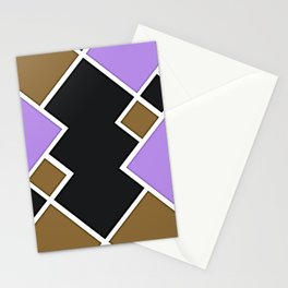 Floating Squares - Mid Century Modern Lavender Stationery Cards