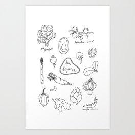 Les légumes Art Print