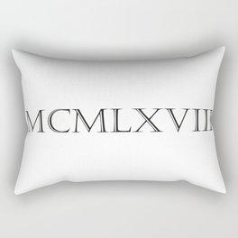 Roman Numerals - 1968 Rectangular Pillow