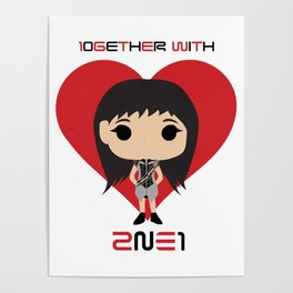 10GETHER WITH 2NE1 - Park Bom Chibi Poster