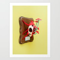 Amanita Beetle Art Print