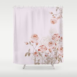 FRENCH PALE ROSES Shower Curtain