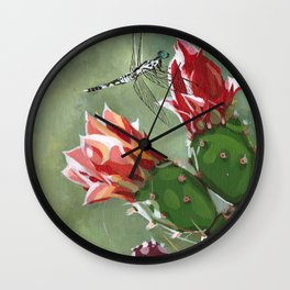 DRAGONLET ON CACTUS Wall Clock