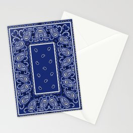 Classic Royal Blue Bandana Stationery Cards
