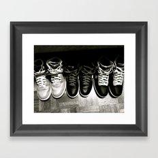 FRESH KICKS B&W Framed Art Print