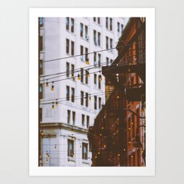 New York City Buildings and Lights (Color) Art Print