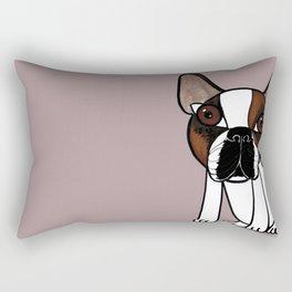 Joey, the french bulldog that thinks he's human Rectangular Pillow