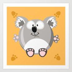 Koala bear from the circle series Art Print