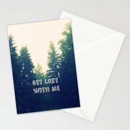 Get lost with me Stationery Cards
