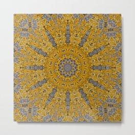 Gelbe FLechten 3 Metal Print