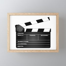 Clapperboard Framed Mini Art Print