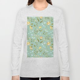 Colourscape Summer Floral Pattern Nebula Long Sleeve T-shirt