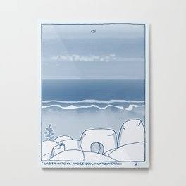 In Paradise Labyrinth Andre Bloc Metal Print