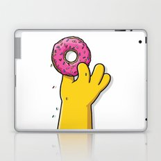 Homer's doughnut, animated tv sitcom, Matt Groening, fox, Bart, Lisa, Maggie, Marge, american family Laptop & iPad Skin