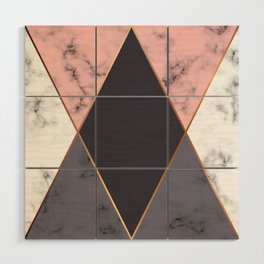 Marble Geometry 018 Wood Wall Art