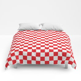 Red Checkerboard Pattern Comforters