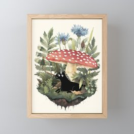 Tiny Unicorn Framed Mini Art Print