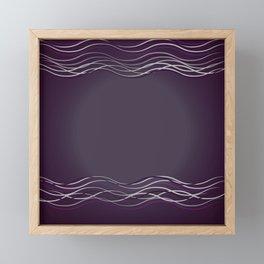 Purple Glow Electric Framed Mini Art Print