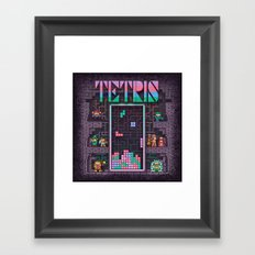 Tetrominoes Framed Art Print