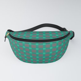 Green gray , plaid Fanny Pack