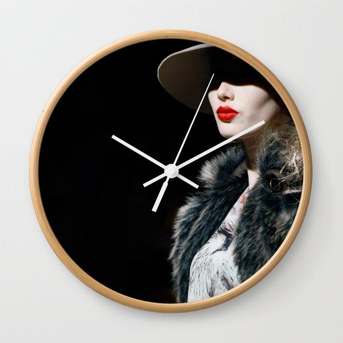 Lady Lips Wall Clock