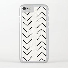 Mud Cloth Big Arrows in Cream Clear iPhone Case