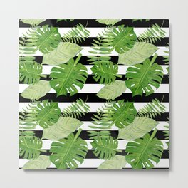 Tropical Leaf Mix III Metal Print