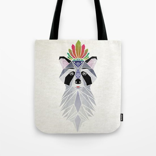 raccoon spirit Tote Bag
