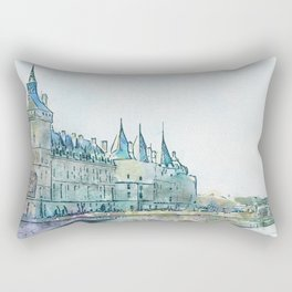 La Seine 4 by Jennifer Berdy Rectangular Pillow