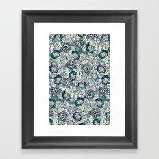 succulents blue indigo Framed Art Print