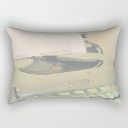 Vintage Typewriter Rectangular Pillow