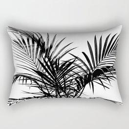 Little palm tree in black Rectangular Pillow