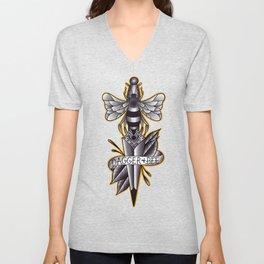 Dagger And Bee Unisex V-Neck