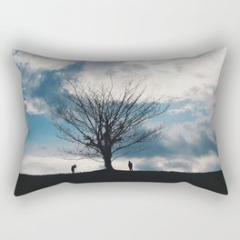 The famous lonely tree Rectangular Pillow