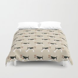 Wire Fox Terrier dog pattern dog lover gifts for dog person dog breeds pet friendly Duvet Cover